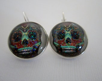 Day O' Dead Sugar Sugar Skulls Girl Star Earrings