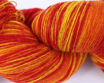 KAUNI Estonian Artistic Wool Yarn Flame  8/1, Art Wool  Yarn for Knitting, Crochet