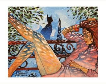Cat and parisian