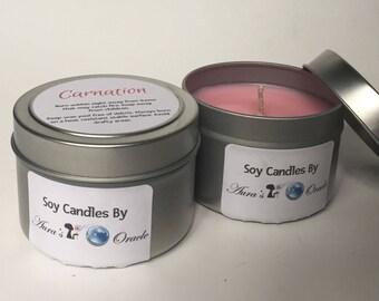 Carnation 4oz Soy Candle
