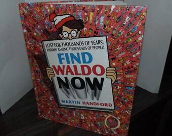 Vintage 1988  Find Waldo now book Hardcover 80s Martin Handford