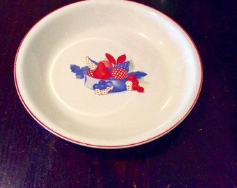 Vintage Red White & Blue Pie Plate