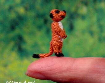 Miniature amigurumi Meerkat. Comes with FREE display box.