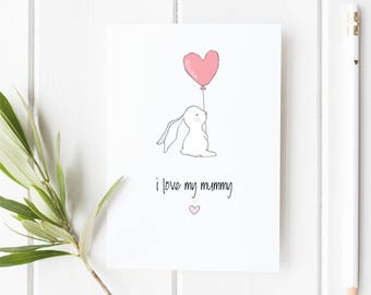 Cute Mothers Day Card, Card for Mom/Mum Happy Mothers Day I Love My Mummy