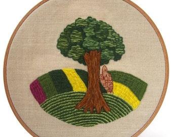"Traditional embroidery kit ""Eté en Champagne"""