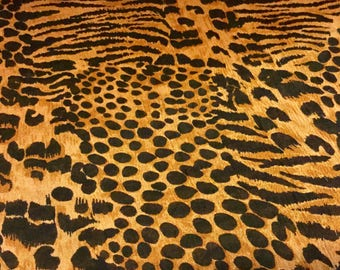 Leopard Skirt One Size Animal Print Skirt Leopard Print Maxi Skirt Long Skirt Vintage Ladies Skirt Womans Skirt