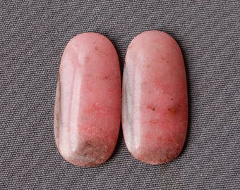Rhodonite Stone Cabochon Matching Pair