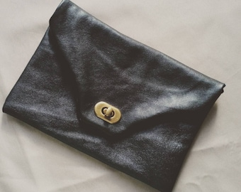 Soft black pouch