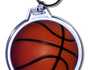 Personalized Basketball Keychain - 2 Size Choices