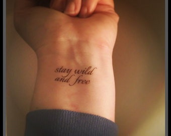quote temporary tattoo fake quote tattoo wrist tattoo