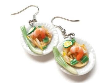Pad Thai earring | Pad Thai miniature | Thai foods earring | Food earring | Food Jewelry | Miniature Foods | Gift | Earring Cute