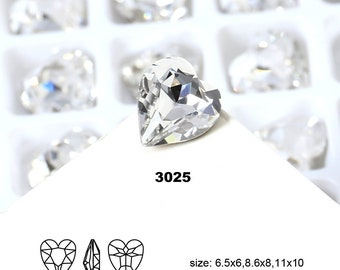 Hot Sale All Size Heart Shaped Point Back Fancy Crystal Fancy Stone For Jewelry Making