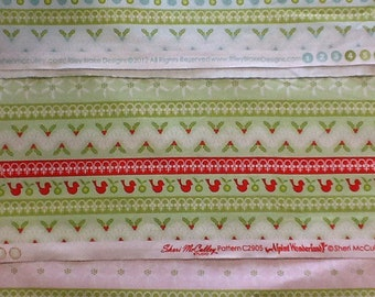 Riley blake christmas stripe collection in blue, green or red by the half metre 100% cotton