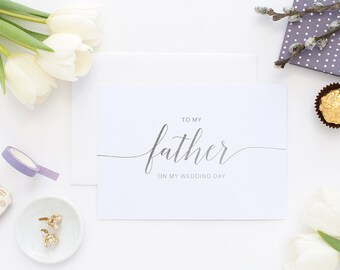 To my father, father of the bride, on my wedding day, wedding day card, to my father card, wedding card, wedding cards, to my dad card