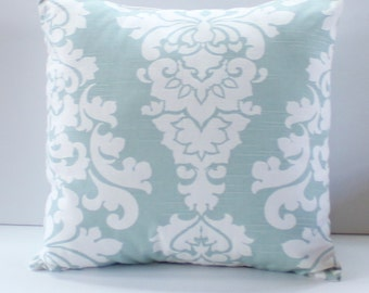 Berlin Snowy Blue Pillow Cover- Snowy Light Blue Contemporary Decorative Couch Pillow 18x18- Ready to Ship