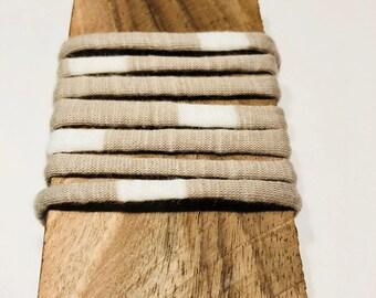 Beige white Striped