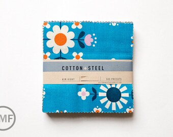 Welsummer Five by Fives, Charm Pack, Kim Kight, Cotton and Steel, RJR Fabrics, Pre-Cut Fabric Squares, K3999-053