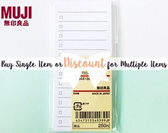 Muji Sticky Note To Do List / Memo Pad Checklist