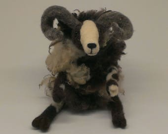 Needle Felted Sheep Sculpture