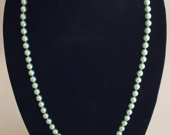 Vintage Mint Green Pearls