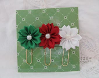 Silk Ribbon Flowers Planner Paperclip