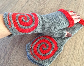 Fingerless gloves handknitted, ready to ship, winter accessories, mittens, wrist warmers