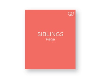 SIBLINGS - Additional Baby Book Page