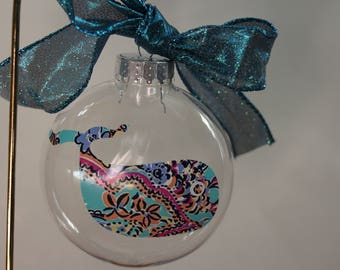 Whale Christmas Ornament, Cute Ornament, Teen girl Christmas gift, Secret Santa gift