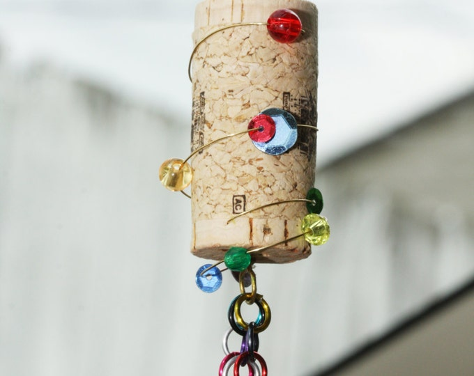 Craft Kit: Make Your Own Custom Eco-Friendly, Beaded Upcycled Wine Cork Ornament Party Favors