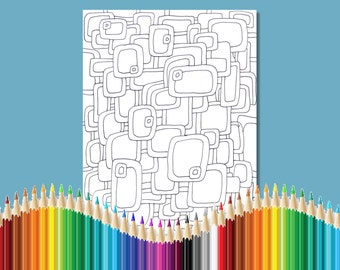 Coloring Pages for Adults Infinity Rectangles Zentangle Instant Download