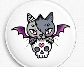 Needle Minder - Vamp Kitty By Miss Cherry Martini Cross Stitch Keeper - Fridge Magnet