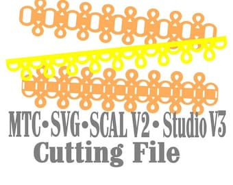 SVG Border Eyelet Set #03 Embellishment Cut Files MTC Cricut SCAL Silhouette Cutting File