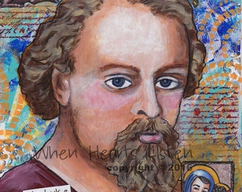 St. Luke - confirmation gift - religious gift - patron saint of doctors - patron saint of artists - religious painting - inspirational art