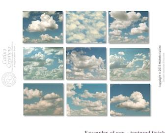 Cloud Photo Set, Cloudy Sky Photography, Fluffy Cloud set of NINE Prints, Blue Sky White Clouds, Nursery Prints, Head in the Clouds Decor
