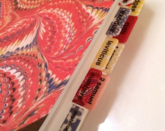 CATHOLIC Boho Red/Yellow/Blue Books of Bible Tabs by Victoria Anderson