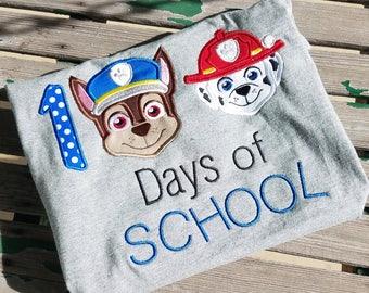 Paw Patrol 100 Days of School Disney Shirt