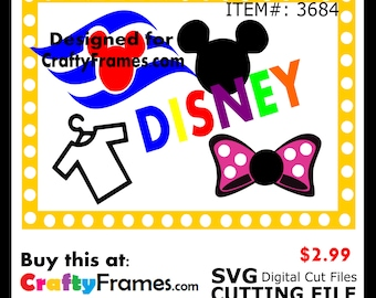 ITEM # CF-3684 - Minnie Mickey Mouse Birthday Disney - SVG Cutting Machine File - Instant Download - Commercial Use - 2.99
