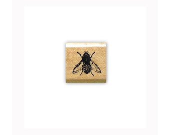 life sized FLY Mounted bug rubber stamp, insect, realistic bug, grunge, Sweet Grass Stamps #15