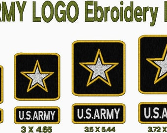 US ARMY Logo Embroidery design in 4 sizes