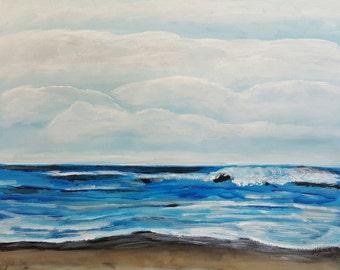 Ocean Painting,  Coastal Decor,  Beach House Designs, Seascape Artwork, Beach Inspired Wall Art