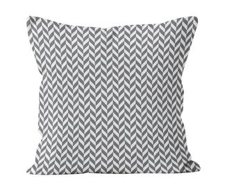 54 colors Modern Herringbone Pillow Cover, Gray Chevron Pillow Cover, Contemporary Herringbone Throw Pillow Cover, Geometric Cushion Cover