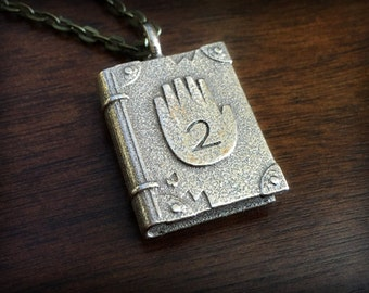 Gravity Falls Journal 02 Stainless Steel 3D Printed Pendant