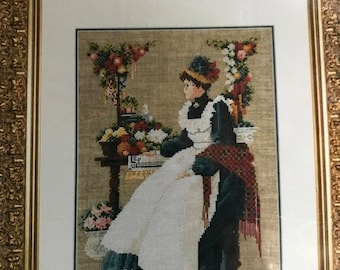 MAYniaSALE Vintage Lavender & Lace County Fair Counted Cross Stitch Pattern