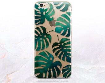 iPhone 8 Case iPhone X Case iPhone 7 Case Monstera Tropical Clear GRIP Case iPhone 7 Plus Clear Case iPhone SE Case Samsung S8 Case U154