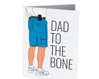 DAD to the bone   Father's Day Card   Badass Dad