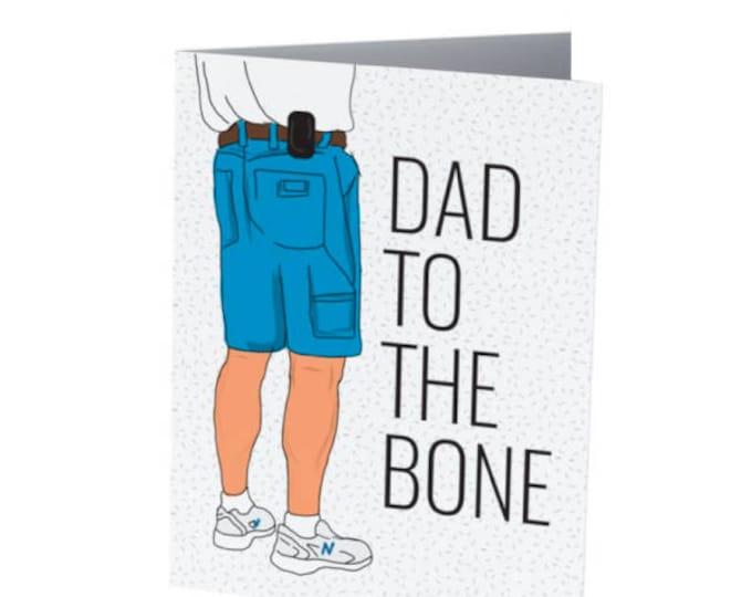 Featured listing image: DAD to the bone   Father's Day Card   Badass Dad