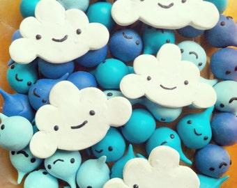 Happy Portland Cloud magnet