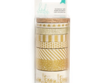 Heidi Swapp Washi Tape Pack, Gold