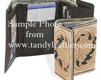"""Totally Custom Leather """"Tri-Fold"""" Wallet"""