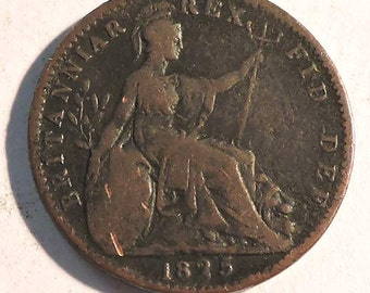 British George IV Farthing 1825